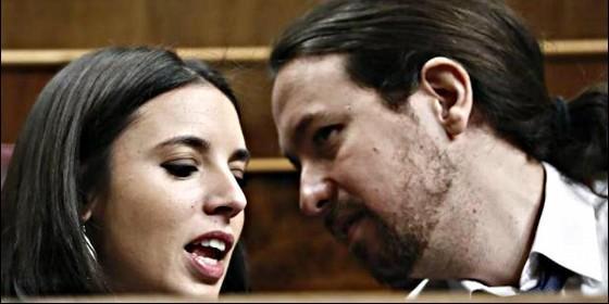 Irene Montero con Pablo Iglesias (PODEMOS)