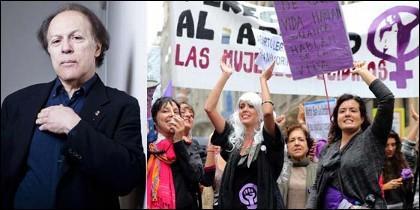 Javier Marías y una manifestación feminista.