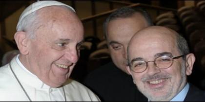 El Hermano Emili Turú, con el Papa Francisco