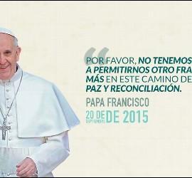 Papa, paz en Colombia