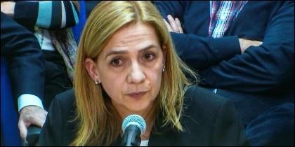 La infanta Cristina durante el juicio del caso Nòos.