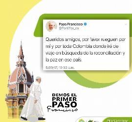 El tweet del Papa a Colombia