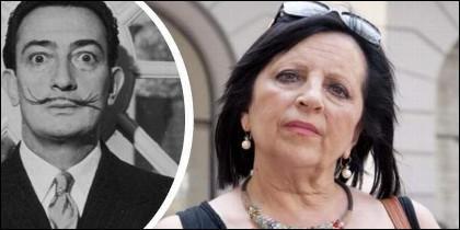 Dalí y Pilar Abel.