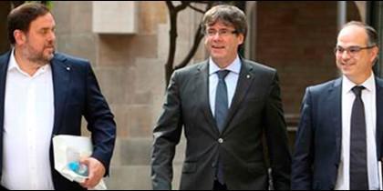 Junqueras, Puigdemont y Turull.