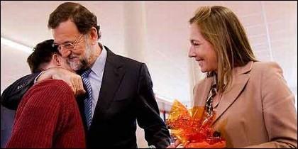 Mariano hijo, Mariano Rajoy y Viri.