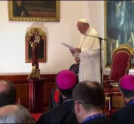 El Papa, a los obispos colombianos