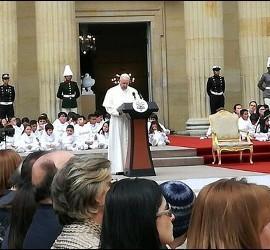 El Papa, en su discurso