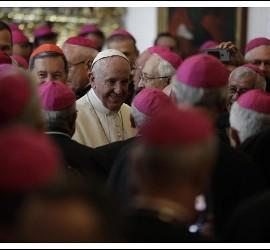 Francisco, con los obispos