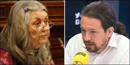 Ángels Martínez y Pablo Iglesias en la SER.