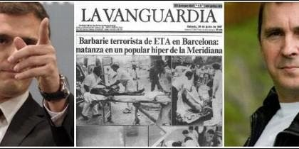 Albert Rivera, la portada de La Vanguardia con el atentado de ETA y Arnaldo Otegi.