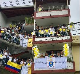 Bienvenido Francisco en Medellín
