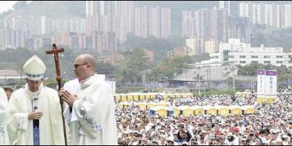 El Papa Francisco, en Medellín