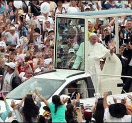 Recibiento al Papa en Villavicencio
