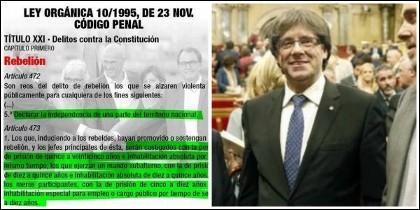 Recordatorio en las redes de las penas que le deberían caer a los golpistas catalanes.