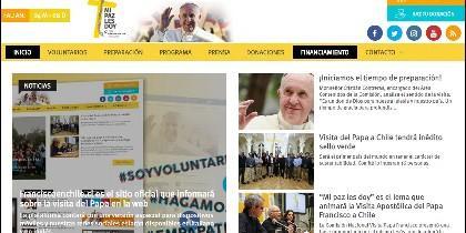 Web de la visita del Papa a Chile