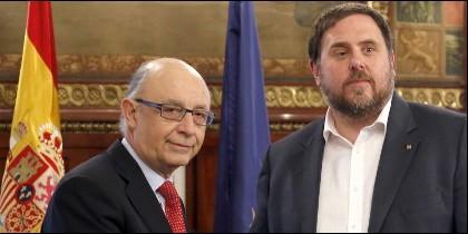 Cristóbal Montoro y Oriol Junqueras.