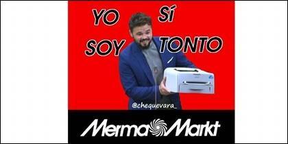 El anuncio de Rufián con la impresora.