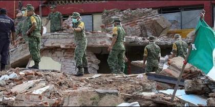 Daños provocados por el terremoto que golpeó México