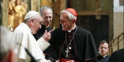 El cardenal Donald Wuerl, con el Papa Francisco
