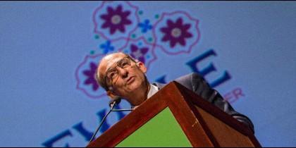 El rector de Loyola Andalucía, Gabriel Pérez, en la clausura del EAIE 2017