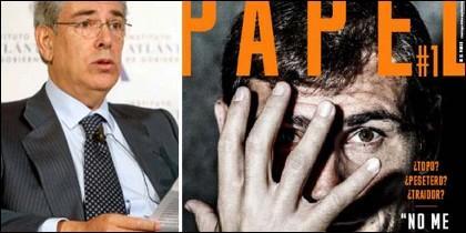 Fernández-Galiano y la primera portada de la revista Papel.