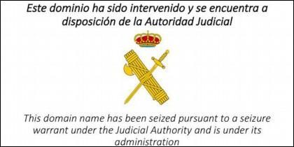 Así deja la Guardia Civil las webs separatistas catalanas, después del cierre.