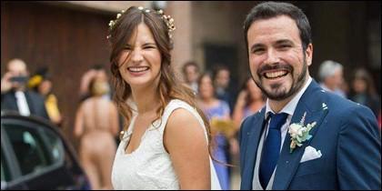 Alberto Garzón y su ya mujer, Ana Ruiz.