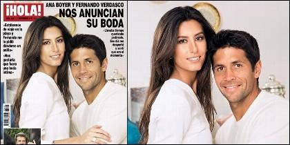 Ana Boyer con Fernando Verdaasco en la portada de 'Hola'.