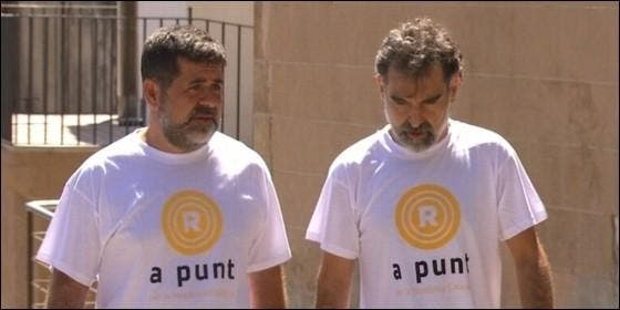 Jordi Sànchez (ANC) y Jordi Cuixart (Òmnium).