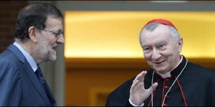 El cardenal Parolin, con Mariano Rajoy