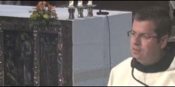 Sergi D'Assís, ayer, en su homilía en Montserrat