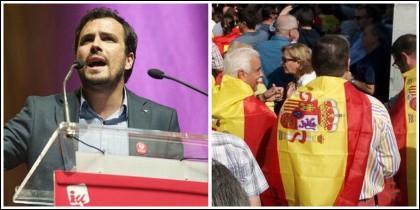 Garzón llama 'nazis' a los que portan banderas españolas.