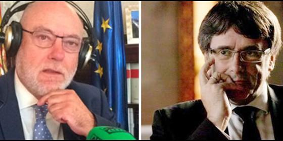 José Manuel Maza y Carles Puigdemont.