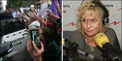 La Guardia Civil, acosada en Cataluña, y Mónica Terribas.