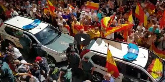 Despedida a la Guardia civil que parte a Cataluña