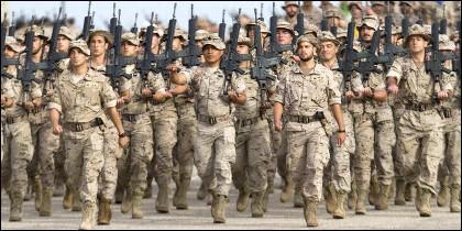 Soldados del Ejército español.