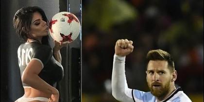 Miss Bum Bum y Messi