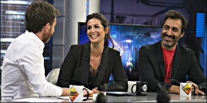 Pablo Motos con Nuria Roca y Juan del Val.