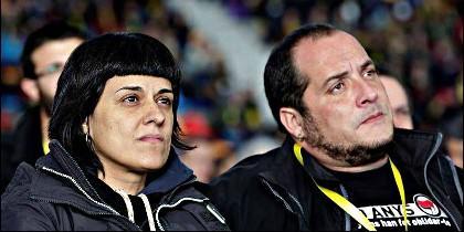 Anna Gabriel y David Fernández, dirigentes de las CUP.