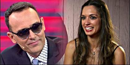 Risto Mejide y Raquel de 'First Dates'.