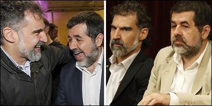 'Los Jordis', Sánchez y Cuixart.