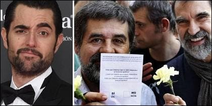 Dani Mateo, y Jordi Sánchez y Jordi Cuixat.