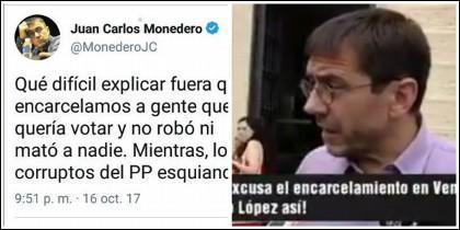 Juan Carlos Monedero en Twitter.