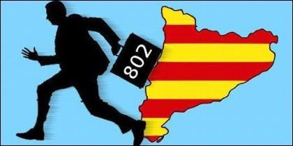 Fuga de empresas en la Cataluña independentista.