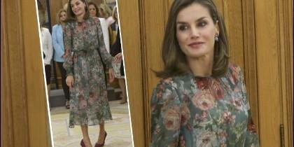 Letizia vestido de Zara