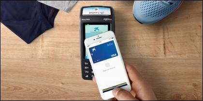 Pago con tarjeta Visa de CaixaBank mediante Apple Pay