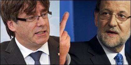 Puigdemont y Rajoy.
