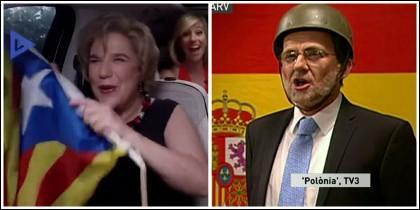 'Polonia' (TV3) y Pilar Rahola en 'Això no és un trio'.