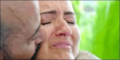 Silvia Abril, desconsolada en 'MasterChef Celebrity' (TVE).