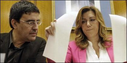 Mario Jiménez con Susana Díaz.